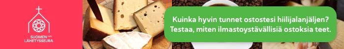 Kuinka hyvin tunnet ruokaostostesi ilmastojalanjäljen? Testaa, miten ilmastoystävällisiä ostoksia teet ja osallistu 149 euron arvoisen älypuutarhan arvontaan!